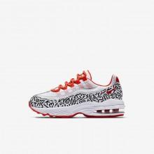 Chaussure Casual Nike Air Max 95 Garcon Blanche/Noir AQ0905-100