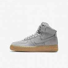 Nike Air Force 1 Lifestyle Shoes Boys Medium Grey/Black/Gum Light Brown 922066-002