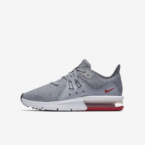 Nike Air Max Sequent Running Shoes Boys Wolf Grey/Anthracite/Pure Platinum 922884-003