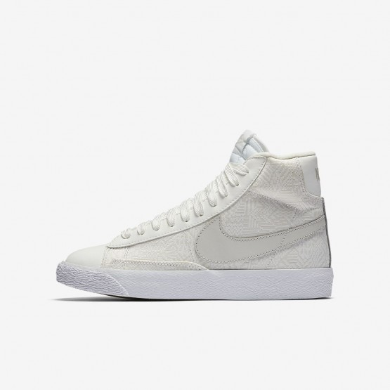 Chaussure Casual Nike Blazer Mid Fille Blanche/Blanche/Clair 902772-100