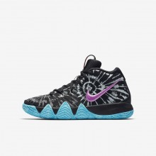 Nike Kyrie 4 Basketball Shoes Boys Black/White AO1322-001