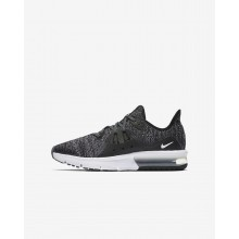 Nike Air Max Sequent Running Shoes Boys Black/Dark Grey/White/Metallic Hematite 922884-001