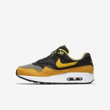 Zapatillas Casual Nike Air Max 1 Niño Oscuro Negras/Amarillo 807602-007