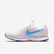 Nike Air Zoom Running Shoes Womens Summit White/Elemental Rose/Thunder Blue/Equator Blue 880560-105