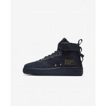 Nike SF Air Force 1 Lifestyle Shoes Boys Obsidian/Black AJ0424-400