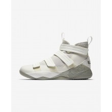 Nike LeBron Soldier XI Basketball Shoes Womens Light Bone/Black/Total Crimson/Dark Stucco 897646-005