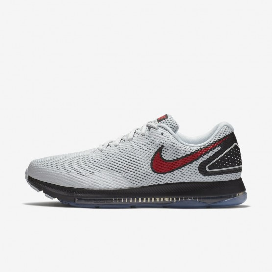 Nike Zoom All Out Running Shoes Mens Pure Platinum/Black/University Red AJ0035-006
