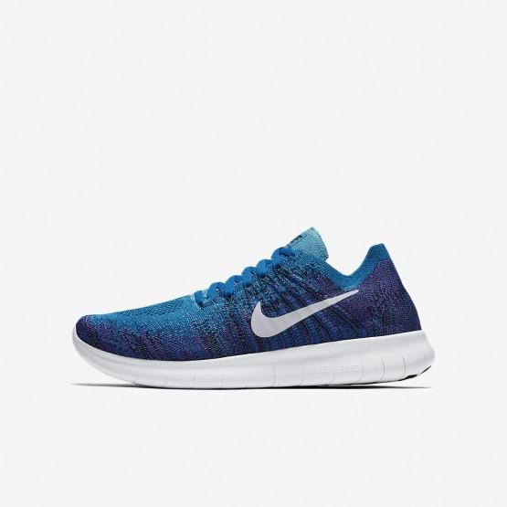 Chaussure Running Nike Free RN Garcon Bleu/Noir/Platine 881973-401