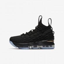 Chaussure de Basket Nike LeBron 15 Garcon Noir/Metal Doré 922811-006