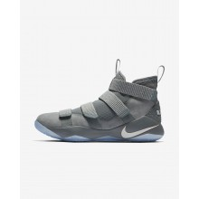 Nike LeBron Soldier XI Basketball Shoes Womens Cool Grey/Metallic Gold/Pure Platinum 897644-010
