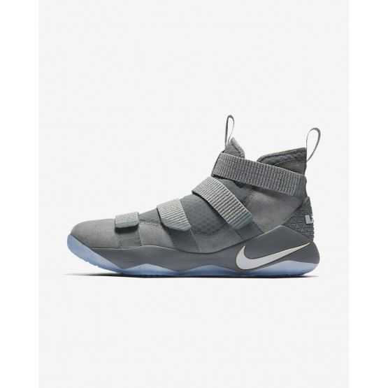 Nike LeBron Soldier XI Basketball Shoes Womens Cool Grey/Metallic Gold/Pure Platinum 897644-010