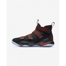 Nike LeBron Soldier XI Basketball Shoes Womens Black/Red Stardust/Gym Red 897644-008