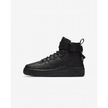 Nike SF Air Force 1 Lifestyle Shoes Boys Black AJ0424-003