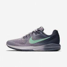 Nike Air Zoom Running Shoes Womens Provence Purple/Thunder Blue/Light Carbon/Green Glow 904701-503