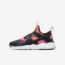 Nike Air Huarache Lifestyle Shoes Boys Anthracite/White/Hot Punch 847568-007