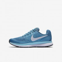 Nike Zoom Pegasus Running Shoes Girls Noise Aqua/Bleached Aqua/Green Abyss/White 881954-404