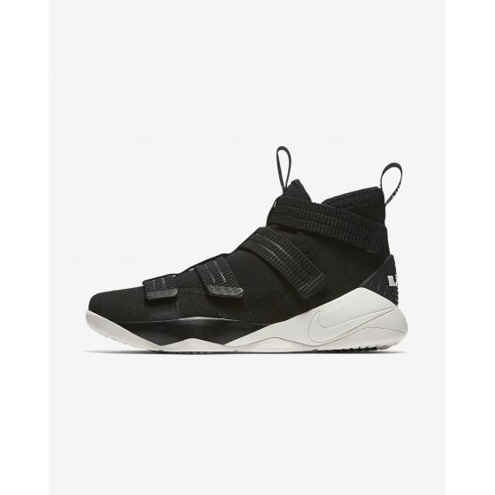 Chaussure de Basket Nike LeBron Soldier XI Femme Noir/Bleu 897646-004