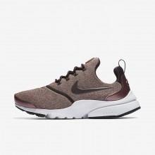 Nike Presto Fly Lifestyle Shoes Womens Port Wine/Particle Pink/Black/Metallic Mahogany 910570-602