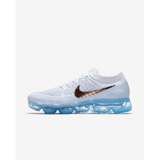 Nike Air VaporMax Running Shoes Womens Summit White/Hydrogen Blue/Pure Platinum/Metallic Red Bronze 849557-104