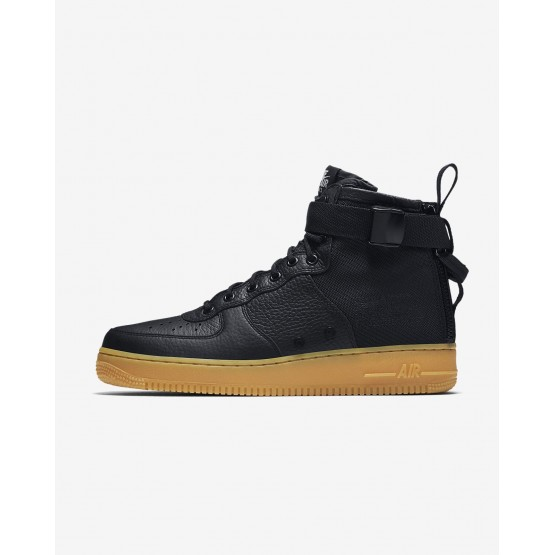 Nike SF Air Force 1 Lifestyle Shoes Mens Black/Gum Light Brown 917753-003