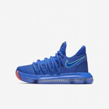 Nike Zoom KDX Basketball Shoes Boys Racer Blue/Black/Total Crimson/Light Menta 918365-402