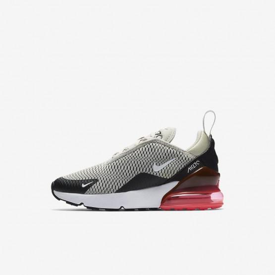 Chaussure Casual Nike Air Max 270 Garcon Clair Noir/Blanche AO2372-002