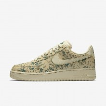 Nike Air Force 1 Lifestyle Shoes Mens Team Gold/Golden Beige/Gorge Green 823511-700