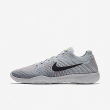 Nike Free TR Trainingsschuhe Damen Platin/Blau 904658-009
