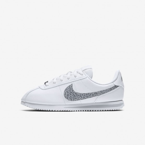 Chaussure Casual Nike Cortez Fille Blanche/Grise AH7528-100