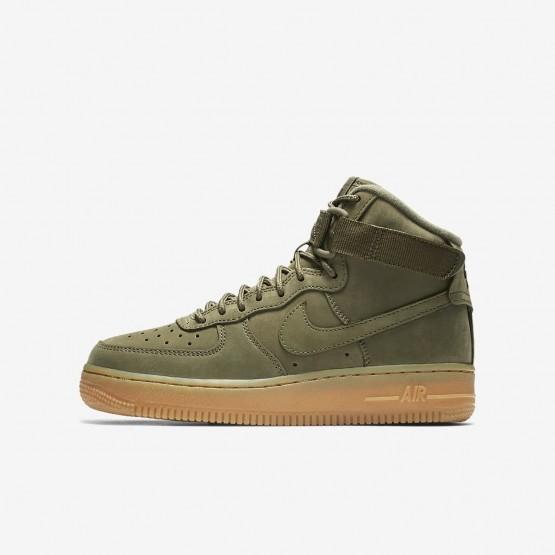 Chaussure Casual Nike Air Force 1 Garcon Vert Olive/Marron Clair/Noir 922066-202