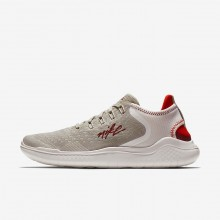 Nike Free RN Running Shoes Womens Moon Particle/Phantom/Habanero Red/Team Red AJ3826-200