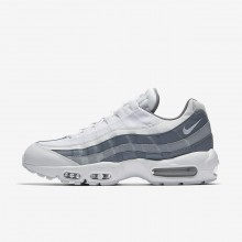 Nike Air Max 95 Lifestyle Shoes Mens White/Cool Grey/Wolf Grey 749766-105