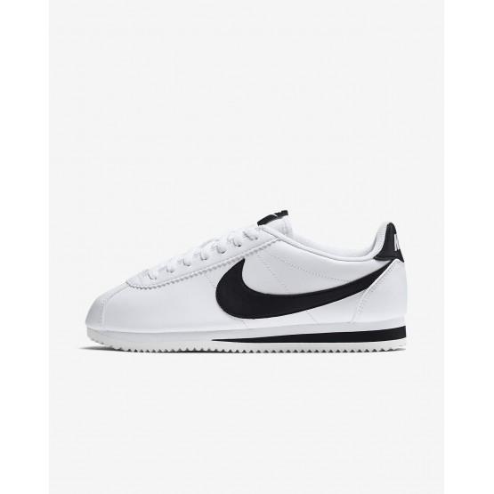 Nike Classic Cortez Lifestyle Shoes Womens White/Black 807471-101
