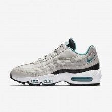 Nike Air Max 95 Lifestyle Shoes Mens Light Bone/Black/White/Sport Turquoise 749766-027