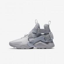Chaussure Casual Nike Huarache Garcon Grise/Noir/Blanche AJ6662-002