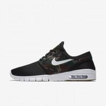 Nike SB Stefan Janoski Max Skateboarding Shoes Mens Black/Medium Olive/Gum Light Brown/White 631303-021
