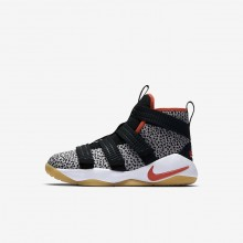 Nike LeBron Soldier XI Basketball Shoes Boys Black/White/Team Orange AJ7576-006