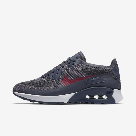 Nike Air Max 90 Lifestyle Shoes Womens Light Carbon/White/Fuchsia Glow/Pink Force 881109-005