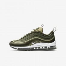 Nike Air Max 97 Lifestyle Shoes Boys Cargo Khaki/River Rock/Neutral Olive/White 917998-300