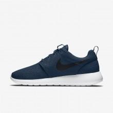 Zapatillas Casual Nike Roshe One Hombre Azul Marino/Blancas/Negras 511881-405